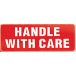 Handle With Care Parcel Warning Label 89mm x 32mm